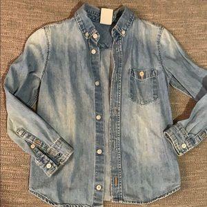 💛💛💛H&M denim button down shirt